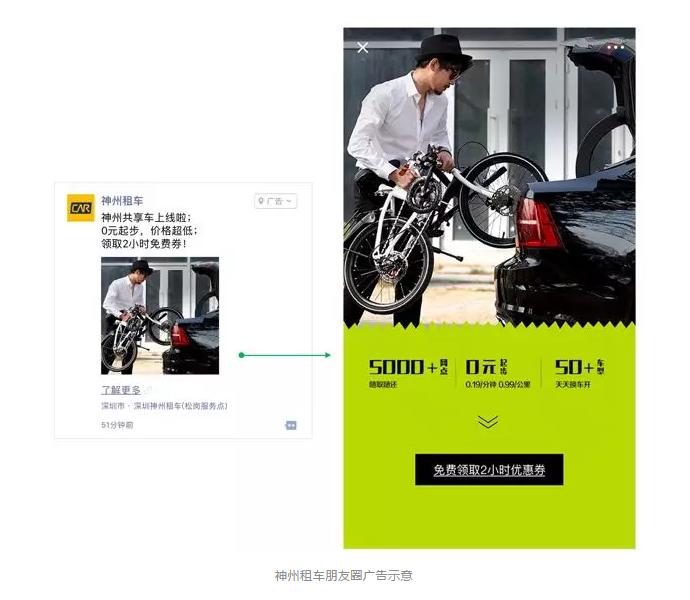 神州租车朋友圈广告示意.png